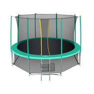 Каркасный уличный батут для взрослых - HASTTINGS CLASSIC GREEN 14FT, лестница, сетка, фото 1